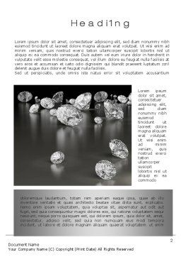 Sprinkle of Diamonds Word Template First Inner Page