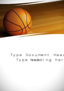 Basketball on Floor Word Template, Cover Page, 10638, Sports — PoweredTemplate.com