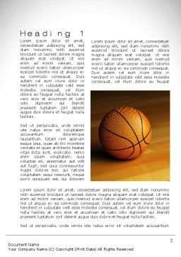 Basketball on Floor Word Template, First Inner Page, 10638, Sports — PoweredTemplate.com