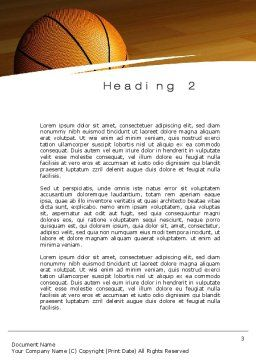 Basketball on Floor Word Template, Second Inner Page, 10638, Sports — PoweredTemplate.com