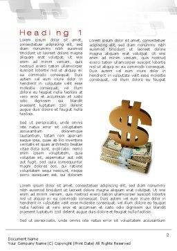 Dollar Pedestal Word Template, First Inner Page, 10639, Financial/Accounting — PoweredTemplate.com