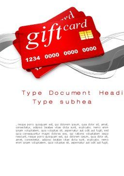 Gift Card Word Template, Cover Page, 10641, Careers/Industry — PoweredTemplate.com
