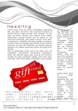 Gift Card Word Template First Inner Page