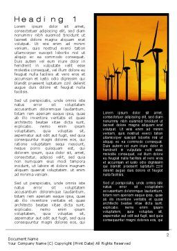 Wind Generators Word Template, First Inner Page, 10643, Technology, Science & Computers — PoweredTemplate.com