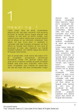 Morning on Tea Plantation Word Template First Inner Page