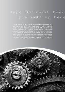 Well Oiled Machine Word Template, Cover Page, 10646, Utilities/Industrial — PoweredTemplate.com