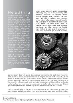 Well Oiled Machine Word Template, First Inner Page, 10646, Utilities/Industrial — PoweredTemplate.com