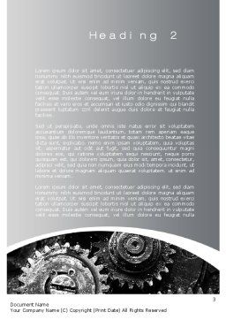 Well Oiled Machine Word Template, Second Inner Page, 10646, Utilities/Industrial — PoweredTemplate.com