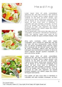 Salad Recipes Word Template, First Inner Page, 10648, Food & Beverage — PoweredTemplate.com