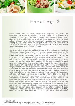 Salad Recipes Word Template Second Inner Page