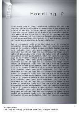 Escape Way Word Template, Second Inner Page, 10652, Consulting — PoweredTemplate.com