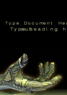 Robotic Hand Word Template, Cover Page, 10656, Technology, Science & Computers — PoweredTemplate.com