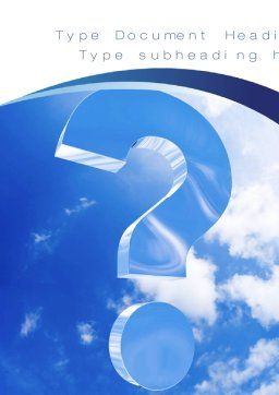 Question in Sky Word Template, Cover Page, 10657, Consulting — PoweredTemplate.com