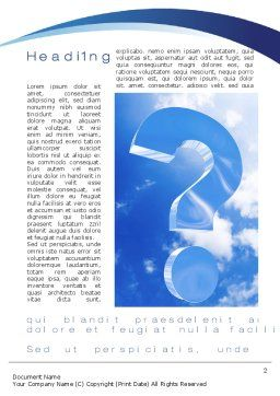 Question in Sky Word Template, First Inner Page, 10657, Consulting — PoweredTemplate.com
