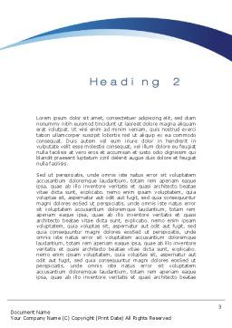 Question in Sky Word Template, Second Inner Page, 10657, Consulting — PoweredTemplate.com