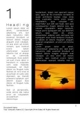 Helicopters at Sunset Word Template, First Inner Page, 10662, Military — PoweredTemplate.com