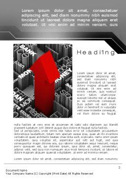 Financial Services Word Template First Inner Page