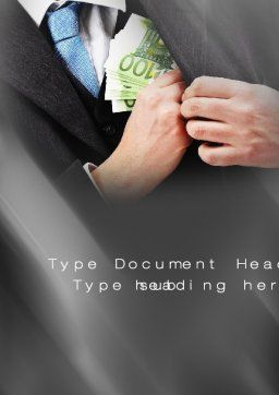 Bribe Money Word Template, Cover Page, 10666, Legal — PoweredTemplate.com