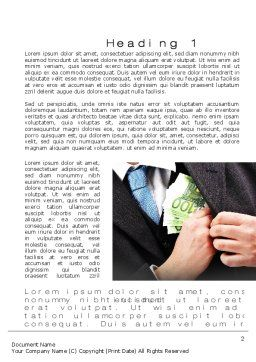 Bribe Money Word Template, First Inner Page, 10666, Legal — PoweredTemplate.com