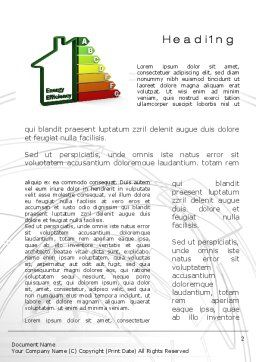 Domestic Energy Efficiency Word Template, First Inner Page, 10671, Careers/Industry — PoweredTemplate.com