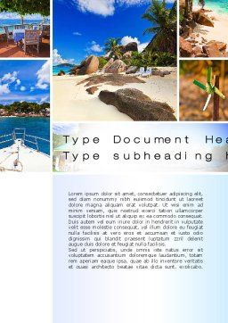 Summer Collage Word Template, Cover Page, 10673, Careers/Industry — PoweredTemplate.com