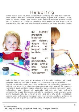 Child Painting Word Template First Inner Page
