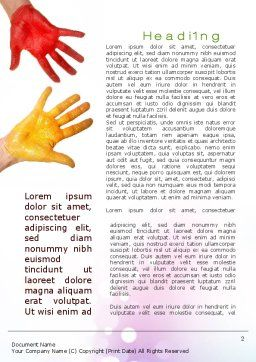 Painted Hands Word Template First Inner Page