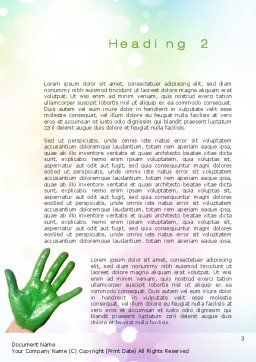 Painted Hands Word Template Second Inner Page