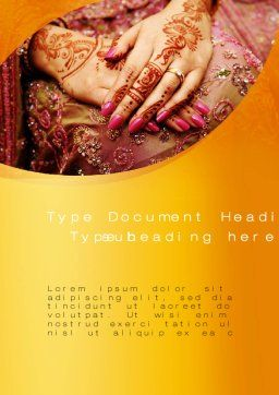 Mehndi Designs Word Template#2