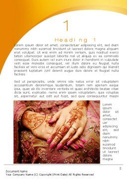 Mehndi Designs Word Template#3