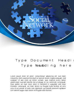 Building Social Network Word Template, Cover Page, 10682, Careers/Industry — PoweredTemplate.com