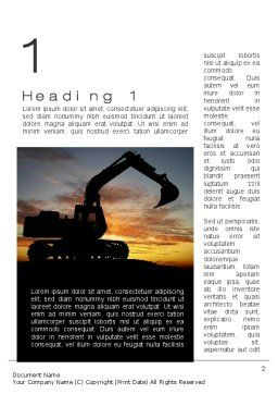 Excavating Contractor Word Template, First Inner Page, 10684, Utilities/Industrial — PoweredTemplate.com
