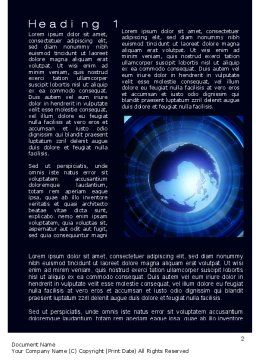 Digital Stratosphere Word Template, First Inner Page, 10685, Technology, Science & Computers — PoweredTemplate.com