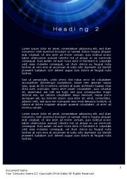 Digital Stratosphere Word Template, Second Inner Page, 10685, Technology, Science & Computers — PoweredTemplate.com