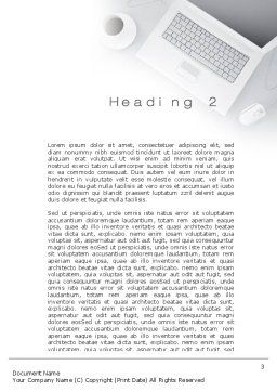Workplace with Laptop Word Template, Second Inner Page, 10690, Business — PoweredTemplate.com