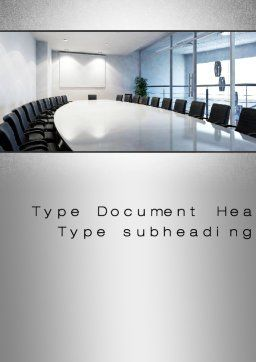 Executive Conference Room Word Template, Cover Page, 10692, Business — PoweredTemplate.com