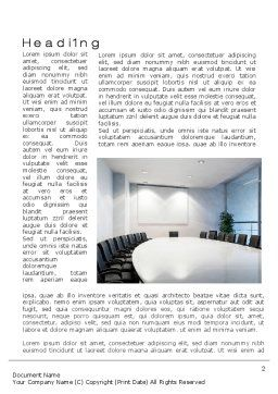 Executive Conference Room Word Template, First Inner Page, 10692, Business — PoweredTemplate.com