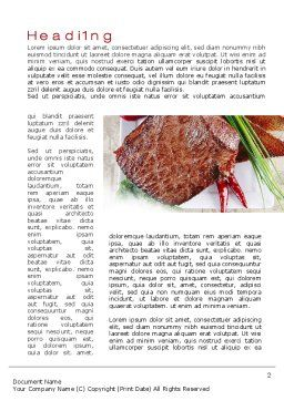Steak Word Template, First Inner Page, 10695, Food & Beverage — PoweredTemplate.com