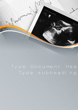 Fetal Non-Stress Test Word Template, Cover Page, 10696, Medical — PoweredTemplate.com