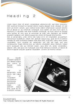 Fetal Non-Stress Test Word Template, First Inner Page, 10696, Medical — PoweredTemplate.com