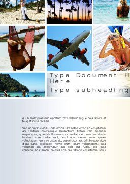 Vacation Collage Word Template, Cover Page, 10699, Careers/Industry — PoweredTemplate.com
