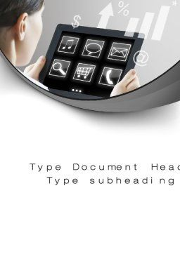 Tablet PC Word Template, Cover Page, 10700, Business Concepts — PoweredTemplate.com