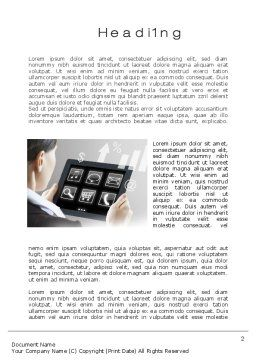Tablet PC Word Template, First Inner Page, 10700, Business Concepts — PoweredTemplate.com