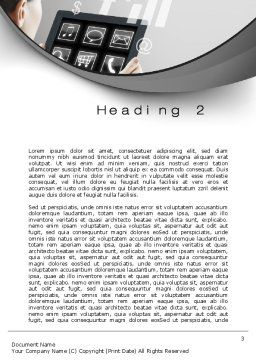 Tablet PC Word Template, Second Inner Page, 10700, Business Concepts — PoweredTemplate.com