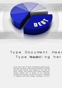 Debt Pie Chart Word Template, Cover Page, 10701, Financial/Accounting — PoweredTemplate.com