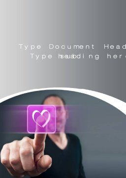 Virtual Love Word Template, Cover Page, 10702, Technology, Science & Computers — PoweredTemplate.com