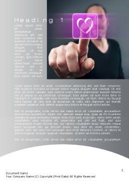 Virtual Love Word Template, First Inner Page, 10702, Technology, Science & Computers — PoweredTemplate.com