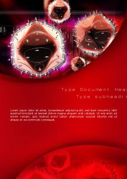 HIV Word Template, Cover Page, 10705, Medical — PoweredTemplate.com