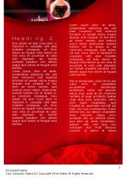 HIV Word Template, Second Inner Page, 10705, Medical — PoweredTemplate.com