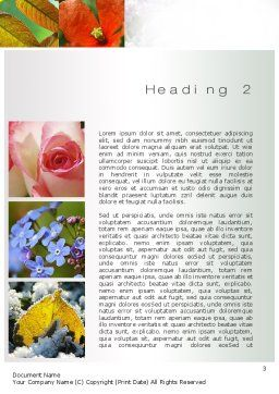 Flowers Collage Word Template, Second Inner Page, 10706, Nature & Environment — PoweredTemplate.com